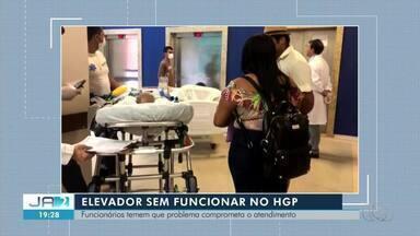 Manutenção em elevadores está prejudicando pacientes e acompanhantes no HGP - Manutenção em elevadores está prejudicando pacientes e acompanhantes no HGP
