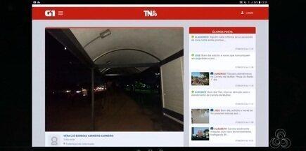 Tô na Rede: passarelas e as paradas na Rodovia JK estão sem iluminação, no AP - Internauta registra pelo aplicativo da Rede Amazônica, relatando o medo que as pessoas tem ao trafegar pelo local e até esperar os ônibus, ficando vulneráveis no meio da escuridão