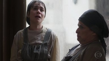 Susana percebe que Petúlia perdeu as provas contra Elisabeta - Petúlia entrega a bolsa da madama toda contente, mas descobre que uma das pastas não está lá