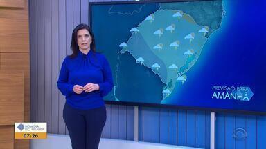 Tempo: quinta-feira (30) será de chuva no RS - Veja como fica a previsão.