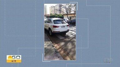 Telespectadores enviam flagrantes de infrações de trâsito em Goiânia - Imagens são mostradas ao vivo.