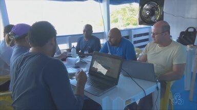 Especialistas participam de treinamento para medição de grandes rios - Especialistas de vários países participam do treinamento.
