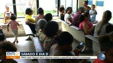 Postos de saude promovem campanha de vacinação contra o sarampo e pólio em Salvador - A campanha tem como meta atingir o número possíveis de crianças da capital baiana.