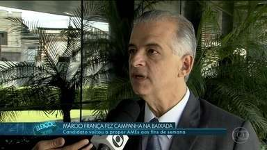 Márcio França faz campanha na Baixada - Márcio França, candidato do PSB, fez camapnha na Baixada Santista.