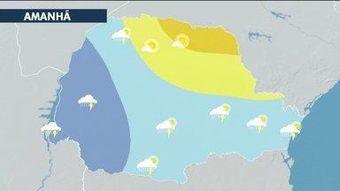 Fim de semana com Sol e possibilidade de chuva em Curitiba - No sábado e no domingo os termômetros devem ficar em torno dos 25°, à tarde.