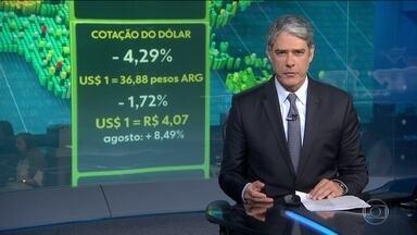 Banco Central argentino vende US$ 250 milhões e peso se valoriza - FMI declara apoio à Argentina e vai se reunir com equipe econômica do país.