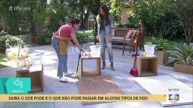 Aprenda a limpar corretamente diferentes tipos de piso - Cuidados evitam danos e riscos