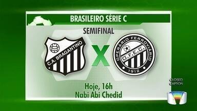 Bragantino faz primeiro jogo da semifinal do Brasileiro da série C - Time já garantiu o acesso.