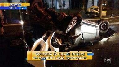 Homem morre após ter veículo atingido por carro de luxo com motorista embriagado em Itajaí - Homem morre após ter veículo atingido por carro de luxo com motorista embriagado em Itajaí