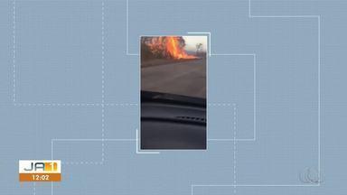 Morador registra queimada na TO-070 - Morador registra queimada na TO-070