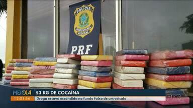Polícia apreende cacaína no posto de Santa Terezinha de Itaipu - A droga estava escondida em fundo falso de um veículo.