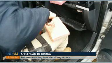 Polícia faz uma das maiores apreensões de crack do ano - Na região noroeste, foram apreendidos 230 quilos de crack.