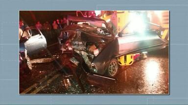 Duas pessoas morrem e oito ficam feridas em acidentes na BR-277 - Os acidentes foram entre 20h30 e 23h no trecho entre Nova Laranjeiras e Cantagalo.