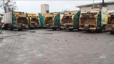 Trabalhadores da Comcap entram em greve e coleta de lixo é interrompida em Florianópolis - Trabalhadores da Comcap entram em greve e coleta de lixo é interrompida em Florianópolis
