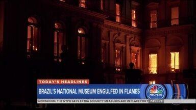Incêndio no Museu Nacional é notícia no mundo inteiro - Destruição do acervo do museu foi assunto nos principais jornais do mundo