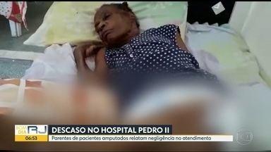 Famílias de pacientes do Hospital Pedro II, em Santa Cruz, reclamam de negligência - Parentes dizem que não há médicos e que enfermeiros se dividem entre 50 doentes.