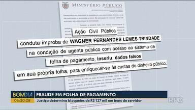 Justiça determina bloqueios de 127 mil reais em bens de servidor municipal - Ele foi acusado de aumentar o próprio salário, adicionar horas-extras, férias e licença sem autorização e com dinheiro público.