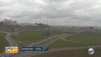 Campinas tem máxima de 19ºC e mínima de 11ºC com pancadas de chuva à tarde e à noite - Temperatura mínima na cidade caiu 6,1ºC entre domingo (2) e esta terça-feira (4), segundo Cepagri. Confira previsão do tempo para outras cidades da região.