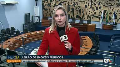 Vereadores autorizam Prefeitura a leiloar 73 imóveis públicos em Ponta Grossa - O Município pretende pagar dívida com o INSS com o valor da venda.