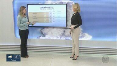 Confira a previsão do tempo para esta quarta-feira (5) em Ribeirão Preto, SP - Temperaturas devem voltar a subir.
