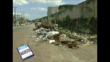 """Quadro """"Calendário JL"""" volta à travessa Perebebuí, no bairro da Pedreira, em Belém - Moradores reclamam do abandono pra Prefeitura com a comunidade"""