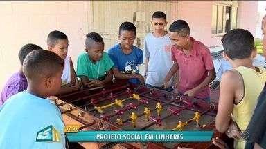 Projeto em Linhares, ES, muda a vida de crianças e jovens com atividades depois da escola - Projeto atende cerca de 150 crianças e adolescentes.