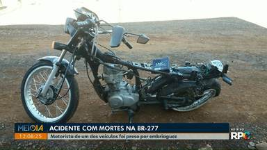 Duas pessoas morrem em acidente na BR-277 em Cascavel - Motorista do carro envolvido na batida está preso por dirigir embriagado.