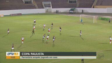 Ferroviária empata em casa em partida contra RB Brasil, mas segue invicta na liderança - Locomotiva deve receber novos reforços de jogadores.
