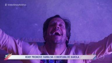 Confira os bastidores da festa que Remy armou na casa de Karola - Remy decide ostentar e promove farra na novela 'Segundo Sol'