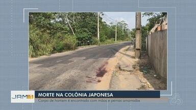 Homem é achado morto com mãos e pés amarrados em Manaus - Moradores da área passaram pelo local, viram a vítima no chão e acionaram a polícia.