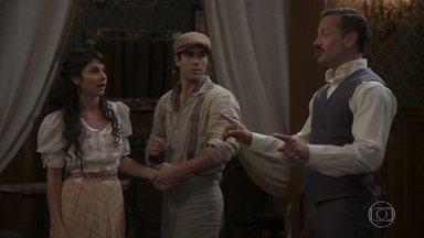 Mariana e Brandão convidam Luccino para ser padrinho de casamento - Luccino fica honrado com o convite. Mariana decide ajudar o amigo a se vestir para o encontro com Otávio