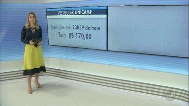 Prazo para inscrição no vestibular da Unicamp termina nesta quarta-feira (5) - Universidade oferece 3,3 mil oportunidades em 69 cursos de graduação. Candidato deve pagar taxa de R$ 170 até quinta-feira (6).
