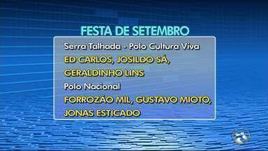 Confira a programação da Festa de Setembro em Serra Talhada - Evento iniciou na terça-feira (4).