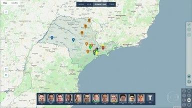 O dia dos candidatos ao governo de São Paulo - E por onde eles estiveram na última semana.
