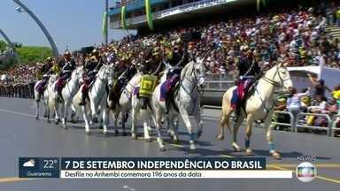 Desfile no Anhembi comemora os 196 anos da Independência do Brasil - Cerca de 30 mil pessoas assistiram ao desfile no sambódromo do Anhembi de comemoração dos 196 anos da Independência do Brasil.