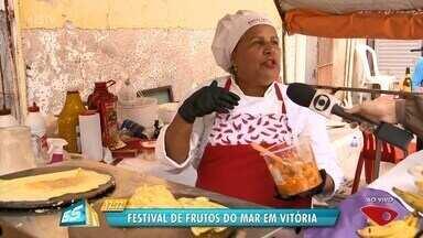 Festival de frutos do mar é realizado em Vitória - Evento acontece na Ilha das Caieiras.