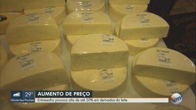 Preços de leite e derivados registra alta nos mercados e atinge bolso do consumidor - Entressafra, reflexos da greve dos caminhoneiros e valor dos insumos elevam o preço dos produtos.