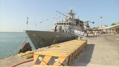 Navio de guerra está aberto a visitação em Fortaleza - Confira mais notícias em g1.globo.com/ce
