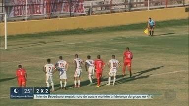 Empate deixa Inter de Bebedouro no G-2 da Segundona - Igualdade de 2 a 2 nesta tarde, em Indaiatuba, mantém Lobo na ponta.
