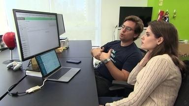Empresário cria plataforma digital para as empresas avaliarem desempenho dos funcionários - Através de uma rede social, os funcionários têm um perfil para fazer e receber avaliações de outros integrantes.