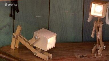 Danilo Panissa ensina a fazer uma luminária em forma de cachorro - Marceneiro e designer mostra o passo a passo para você fazer a luminária!