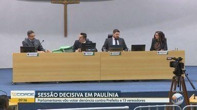 Parlamentares votam denúncia contra prefeito e 13 vereadores em Paulínia - Sessão acontece nesta segunda-feira (10), às 9h.