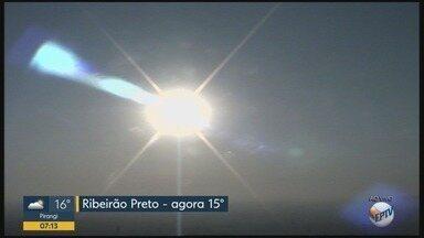 Confira a previsão do tempo para segunda-feira (10) em Ribeirão Preto, SP - Temperatura máxima chega a 33°C.