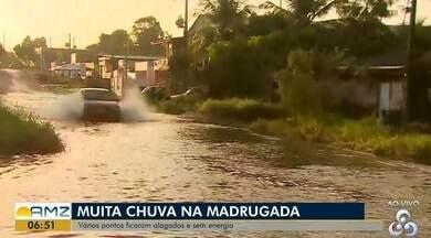 Temporal deixou vários pontos da cidade alagados, no AP - Foram mais de cinco horas consecutivas de chuva na madrugada de hoje (10)