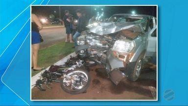 Rapaz morre atingido por caminhonete na orla de Fátima do Sul - Acidente aconteceu na noite de sábado (8). Motorista da caminhonete foi preso.