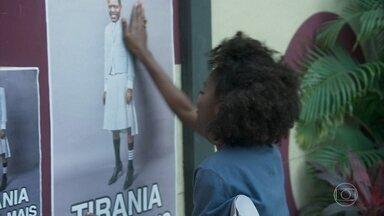 A galera protesta contra Marcelo no Sapiência - Eles fazem montagens com o diretor vestindo saia e Marcelo manda chamar Dandara imediatamente