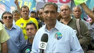 André Monteiro faz campanha em São Gonçalo - André Monteiro faz campanha no calçadão de Alcântara, em São Gonçalo.