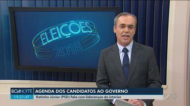 Veja a agenda dos candidatos ao governo do Estado - Eleições 2018. O Boa Noite Paraná acompanha os compromissos da campanha eleitoral dos candidatos.