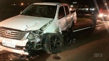 PRF registra oito mortes em acidentes durante o feriadão no Paraná - Em Laranjeiras do Sul, uma criança de sete anos morreu em um acidente na BR-277.