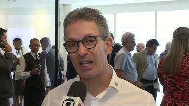 Candidato Romeu Zema (Novo) cumpre compromissos de campanha na região metropolitana de BH - Zema participou de almoços com empresários.